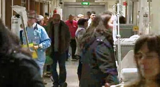 Urgências hospitalares lotadas