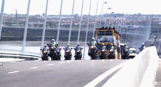 Inauguração da Ponte Vasco da Gama