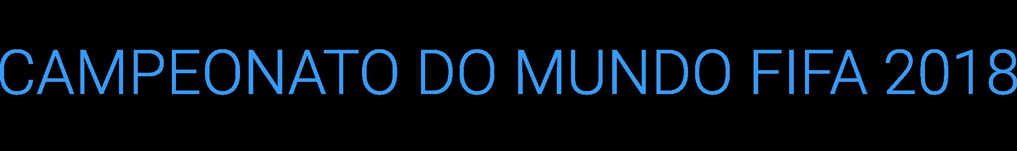 Logotipo Mundial 2018 - Jogador A