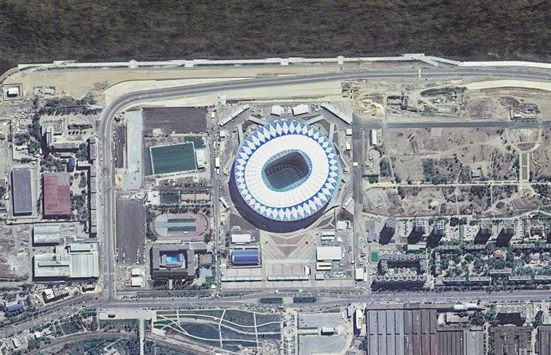 Localizado em Volgogrado, com capacidade de 45.000 lugares /Foto: ROSCOSMOS via Reuters
