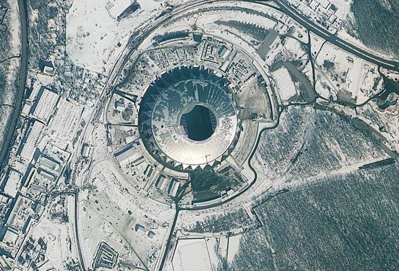 Localizado em Samara, com capacidade de 45.000 lugares /Foto: ROSCOSMOS via Reuters