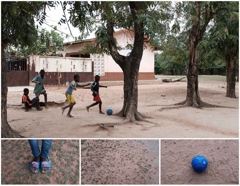 Descalças, sobre a terra e sem balizas. este grupo de crianças parece precisar apenas de uma bola para se divertir. Jogam uma partida de futebol durante o intervalo das aulas na cidade de Dambai, no Gana. Foto: Francis Kokoroko - Reuters