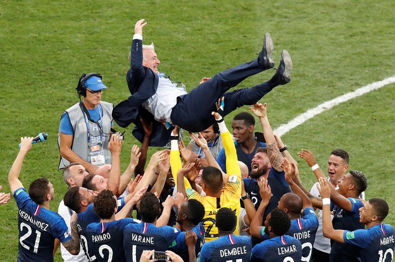 A seleção francesa comemora a vitória do Mundial de Futebol /Christian Hartmann - Reuters