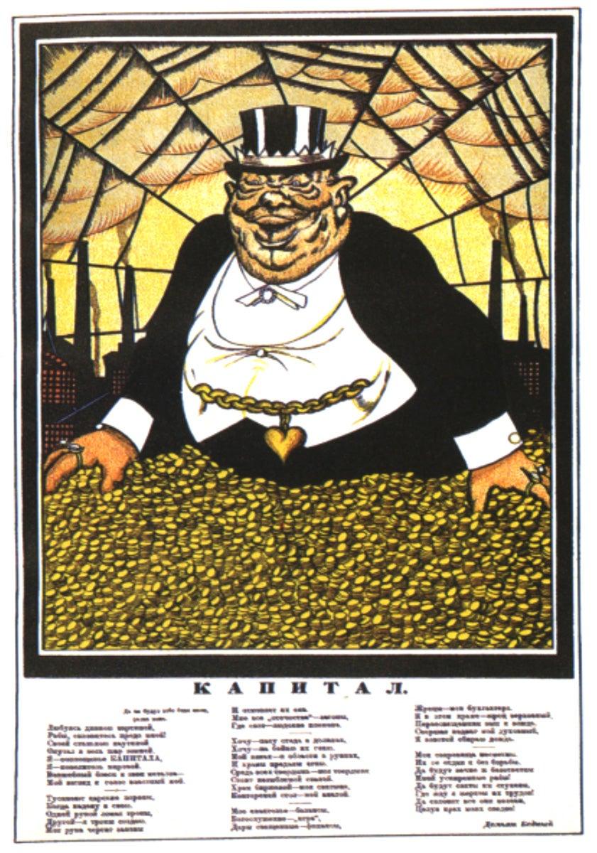 """O capital"". Wiktor Deni, 1920"