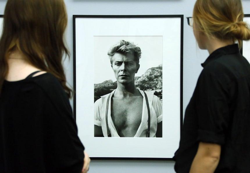Retrato de David Bowie em Monte Carlo, 1983