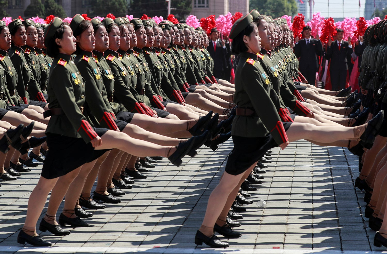 Parada militar em comemoração dos 70 anos da fundação da Coreia do Norte /Danish Siddiqui - Reuters