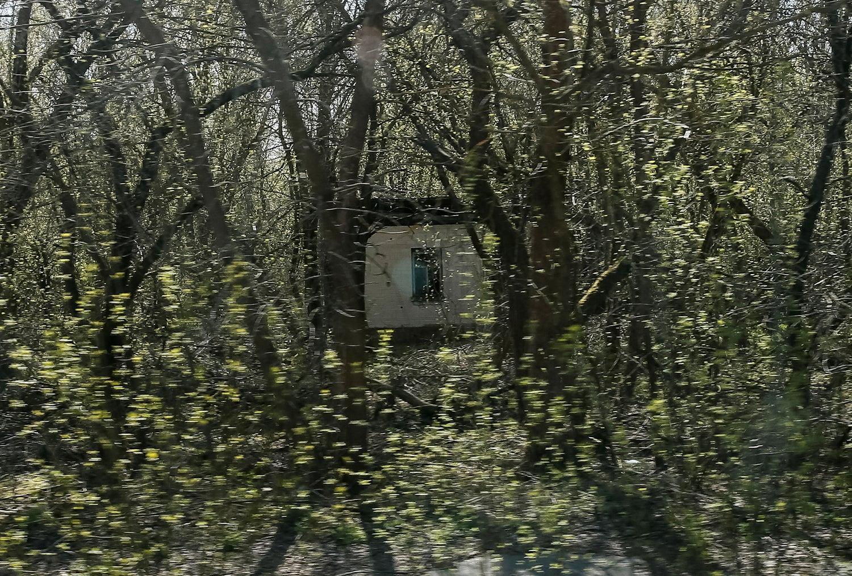 Casa abandonada na vila de Zalesye, perto da central nuclear de Chernobyl/ Gleb Garanich - Reuters