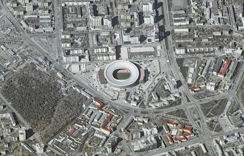 Localizado em Ekaterinburg, com capacidade de 45.000 lugares /Foto: ROSCOSMOS via Reuters
