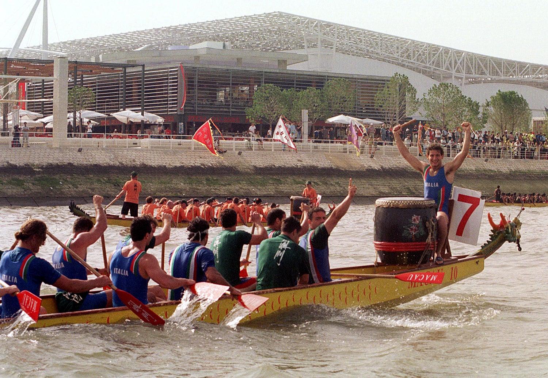 No dia temático dedicado a Macau, decorreu uma corrida de barcos no Rio Tejo /Foto: JR/FMS via Reuters