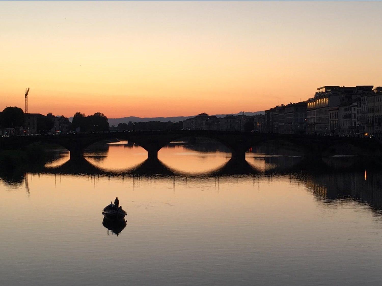 Florença ao entardecer depois de dois dias de debate sobre a União Europeia. Fonte: TP