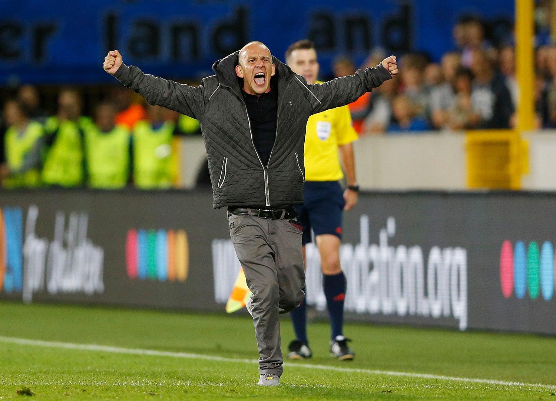 Durante o jogo entre a equipa belga, Club Brugge, e o Manchester United - 2015 /Carl Recine - Action Images via Reuters