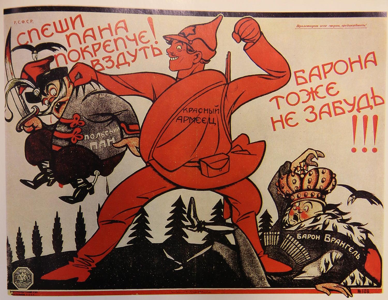 """""""Apressem-se! Dêem-lhes mais! E não se esqueçam do barão!!!"""". Wiktor Deni, 1920"""