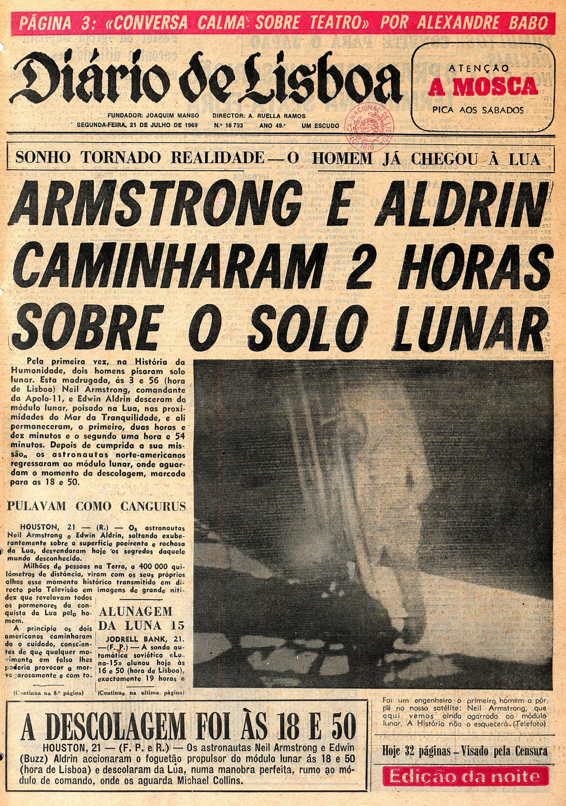 """Jornal """"Diário de Lisboa"""" (21 julho 1969)"""