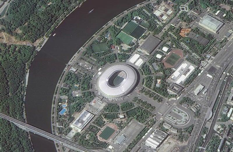 Localizado em Moscovo, com capacidade de 80.000 lugares /Foto: ROSCOSMOS via Reuters