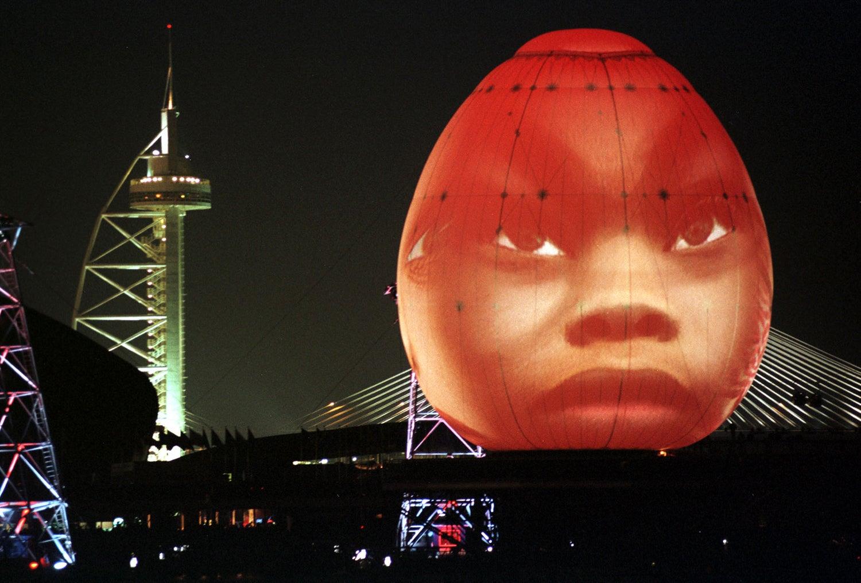 Cerimónia de abertura da Expo '98 o espetáculo