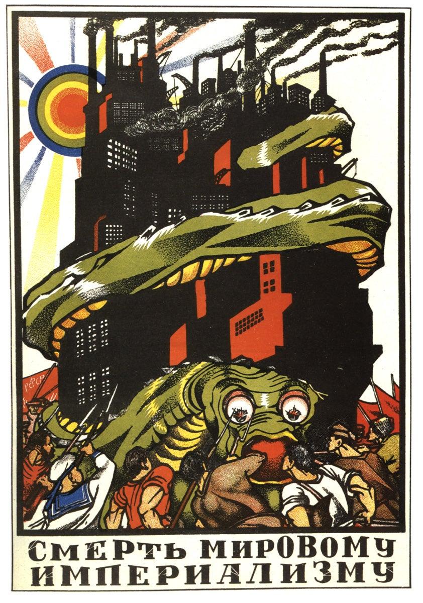 """Morte ao imperialismo mundial"". Dmitri Moor, 1919"