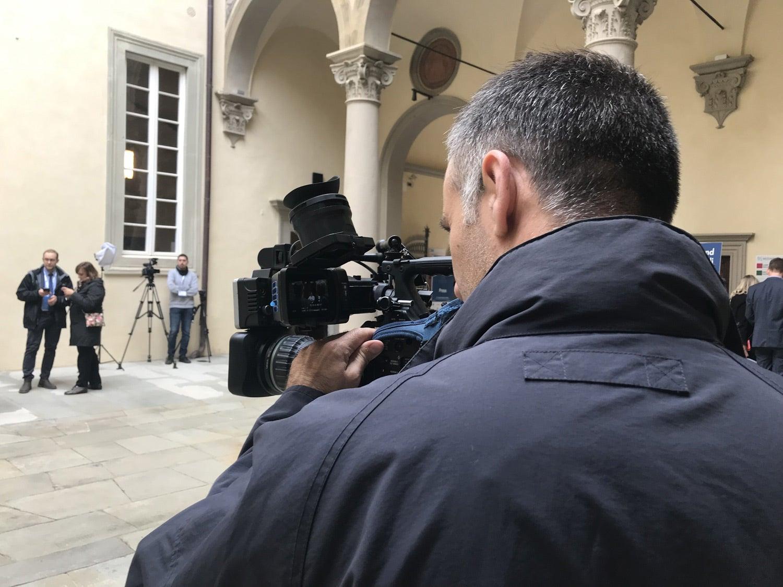 O repórter Pedro Miguel Gomes. O evento anual, que tem lugar em maio, é organizado pelo European University Institute (EUI) desde 2011. Fonte: RTP Europa