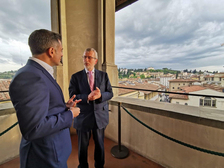 João Adelino Faria e Renaud Dehousse, Presidente do European University Institute. Fonte: PMG