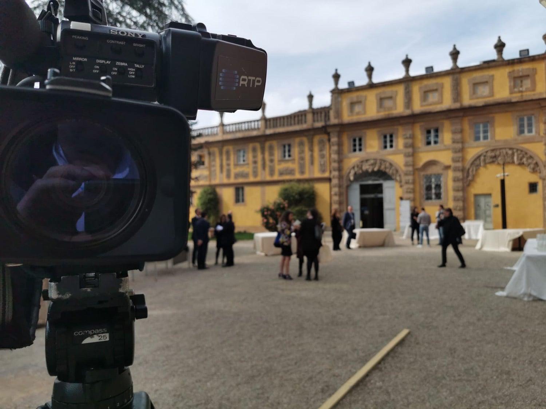 A RTP no primeiro dia da Conferência sobre o Estado da União, na Villa Salviati. Fonte: Pedro Miguel Gomes (PMG)