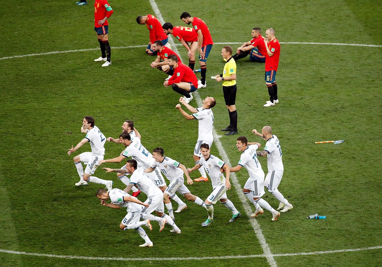 Vitória da seleção russa frente a Espanha /Maxim Shemetov - Reuters