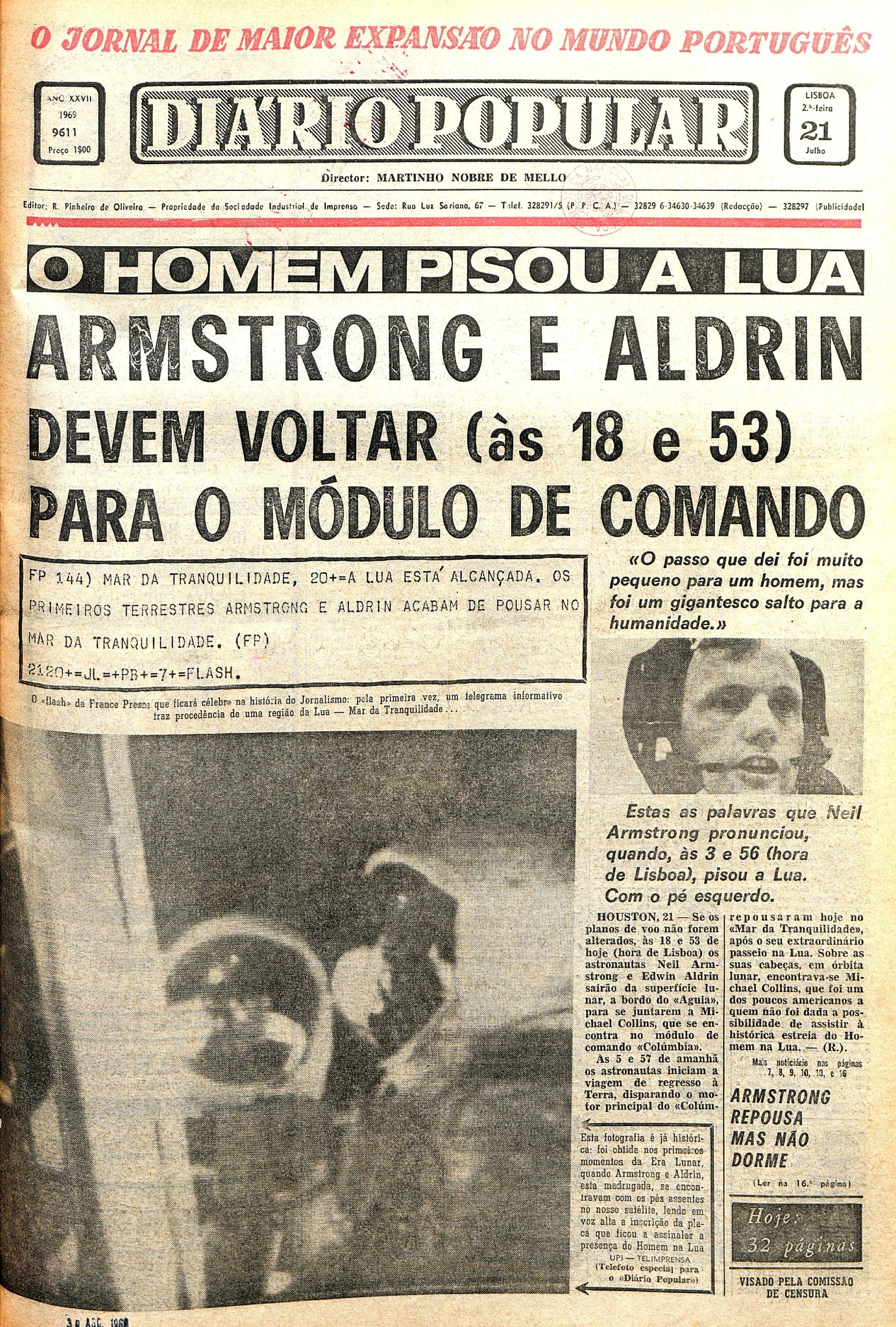 "Jornal ""Diário Popular"" (21 julho 1969)"