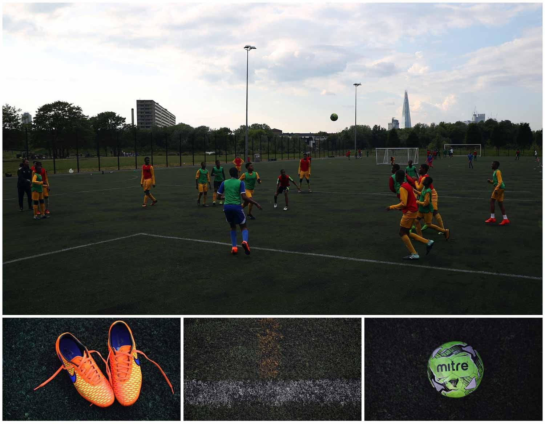 Novamente em Londres, joga-se futebol mas desta vez num relvado. Foto: Hannah McKay - Reuters