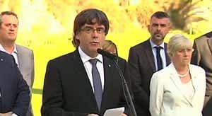 Resultado de imagem para Carles Puigdemont reivindica paz e firmeza democrática perante o franquismo
