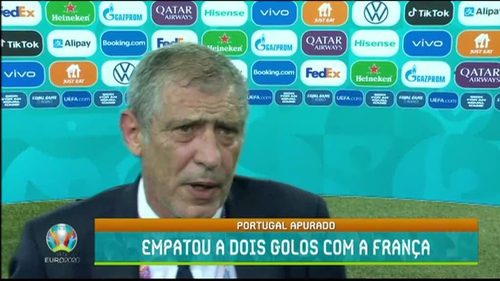 """Euro2020. """"Esta é uma equipa que sabe o que é preciso fazer para ganhar"""" diz Fernando Santos"""