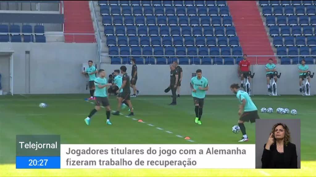 Euro2020. Seleção Nacional treinou em Budapeste com João Félix e Nuno Mendes de regresso