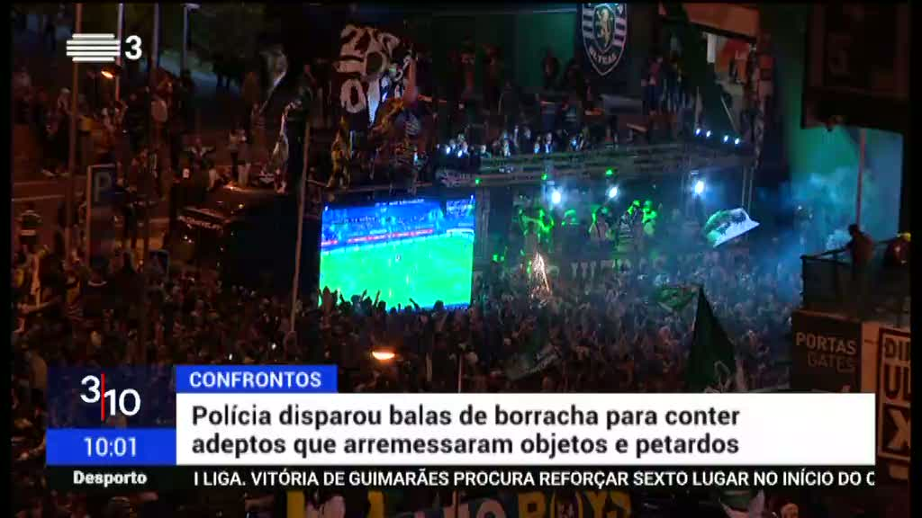 Ajuntamentos. Milhares de sportinguistas concentraram-se na festa do título de campeão