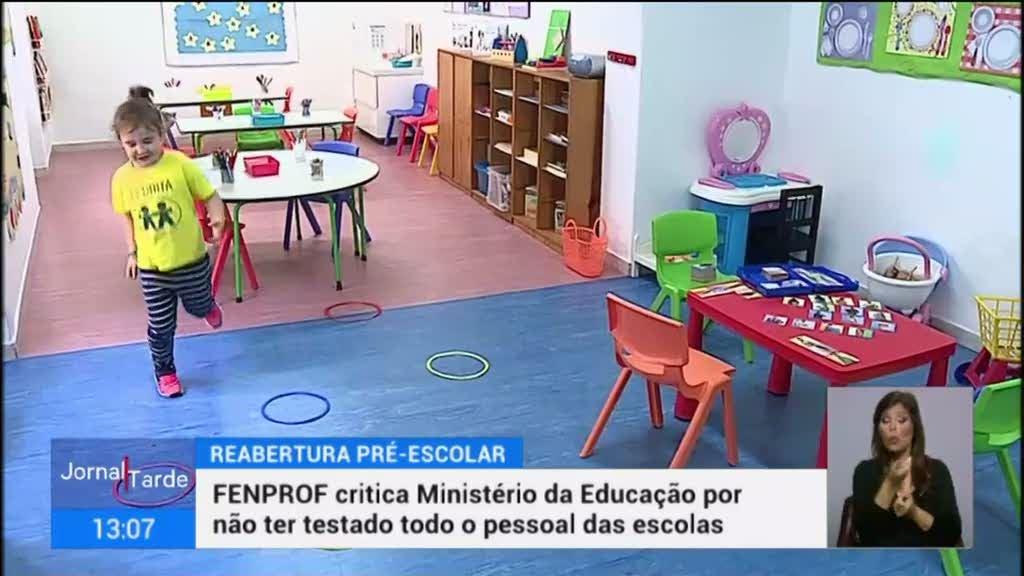 Recomeça o ensino presencial do pré-escolar