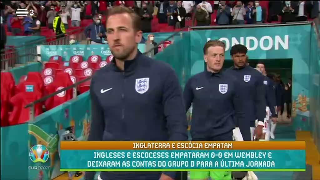 Euro2020. Ingleses e escoceses empataram 0-0. Veja o resumo da partida