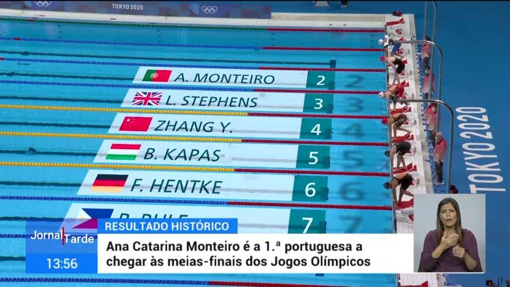 Tóquio2020. Ana Catarina Monteiro nas meias finais dos 200 metros mariposa