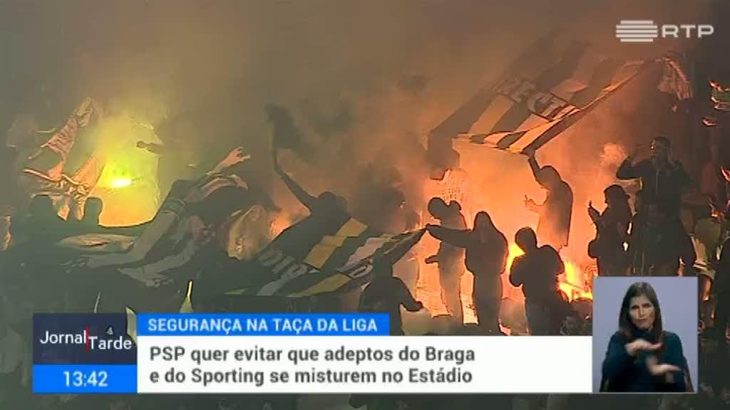 PSP quer evitar que adeptos do Braga e do Sporting se misturem no estádio