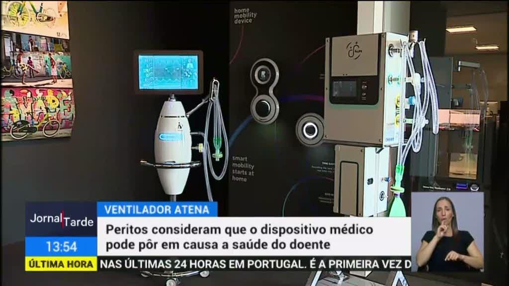 Peritos consideram que ventilador Atena pode pôr em causa saúde do doente