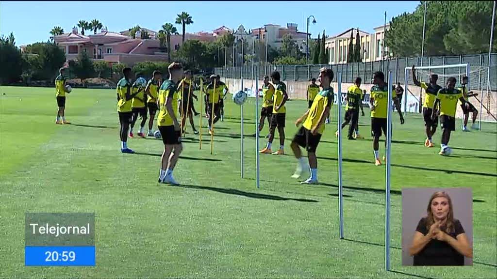 Jogadores do Sporting com teste negativo preparam jogo da Liga Europa