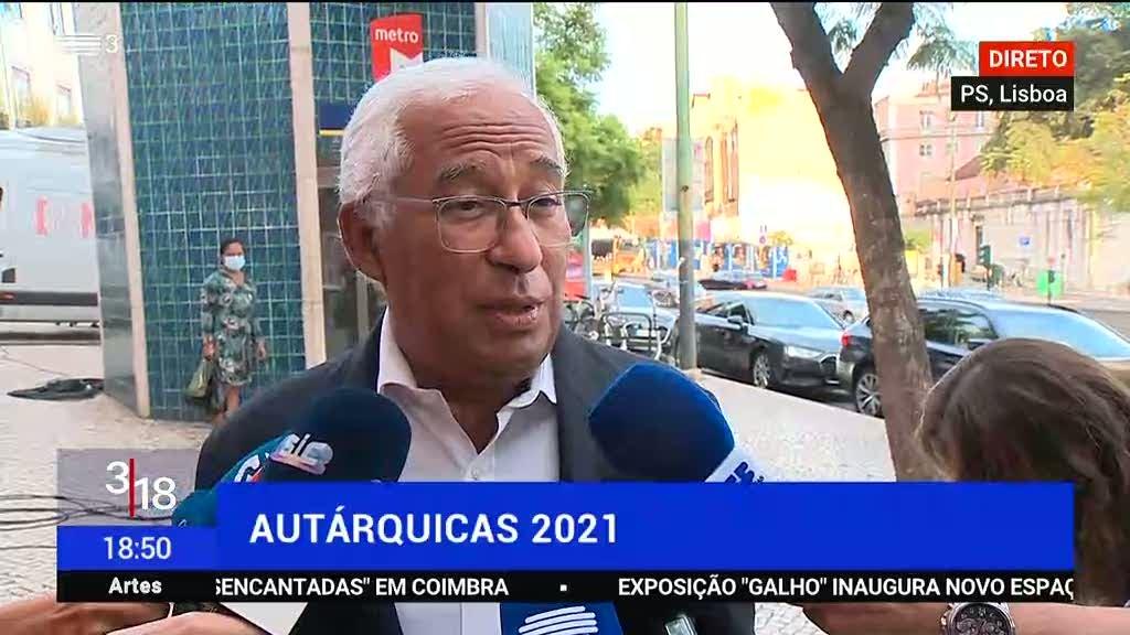 António Costa. Objectivo do PS é continuar a ser o maior partido a nível autárquico