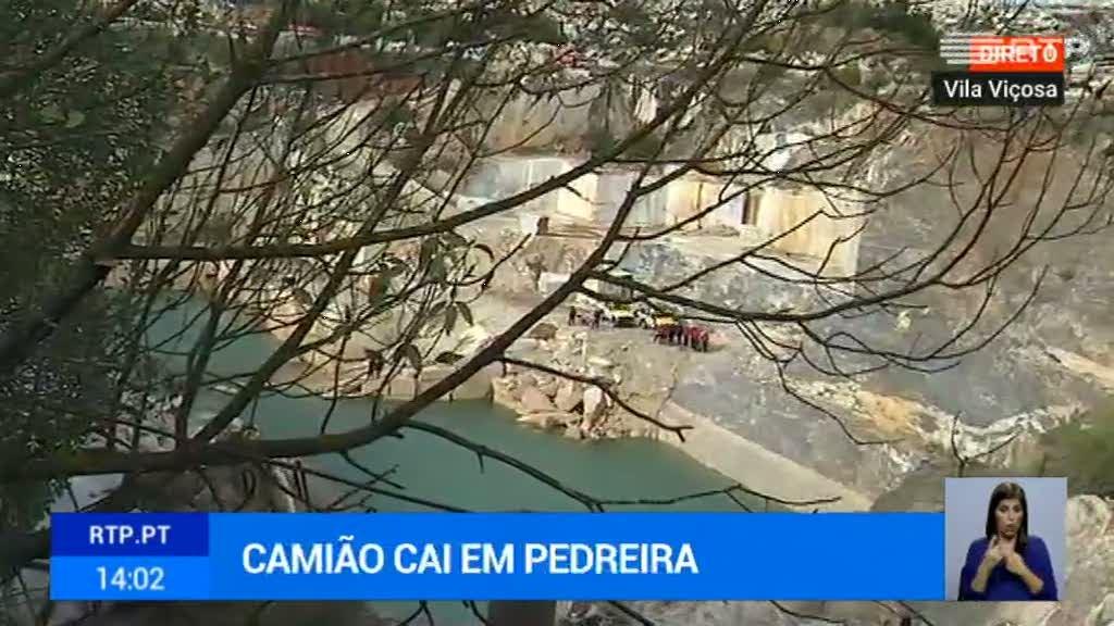 Vila Viçosa. Queda de camião em pedreira provoca um morto - RTP