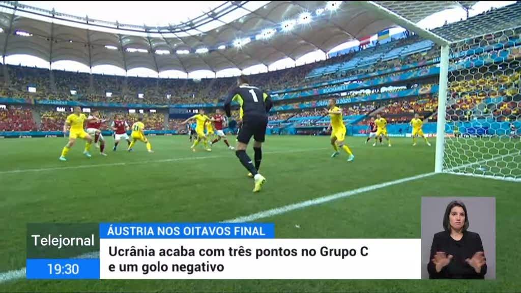 Ucrânia perdeu com  a Áustria no Grupo C do Europeu
