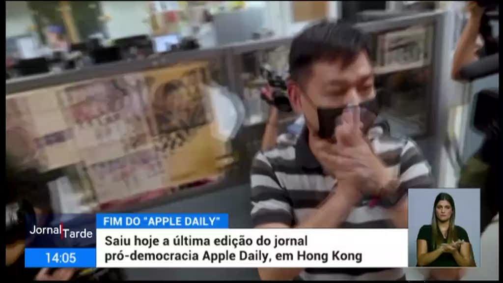 Hong Kong. Saiu hoje para as bancas a ultima edição do jornal Apple Daily