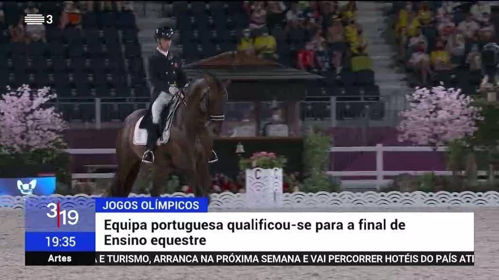 Equipa portuguesa de ensino equestre na final dos Jogos Olímpicos
