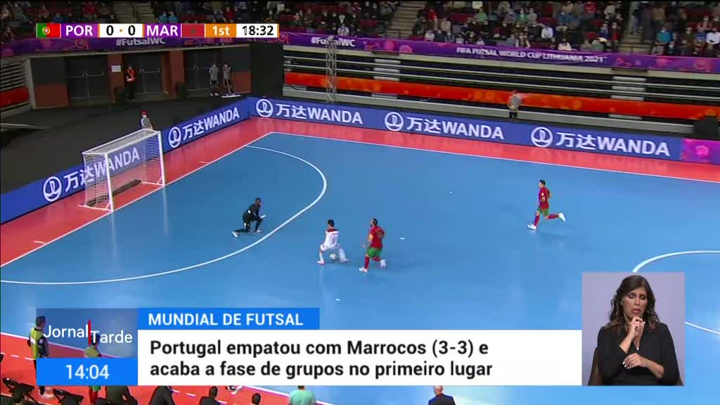 Mundial de futsal. Portugal acaba fase de grupos em primeiro lugar