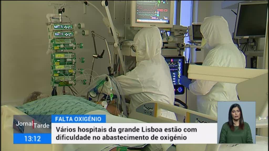 Oxigénio começa a escassear nos hospitais da Grande Lisboa