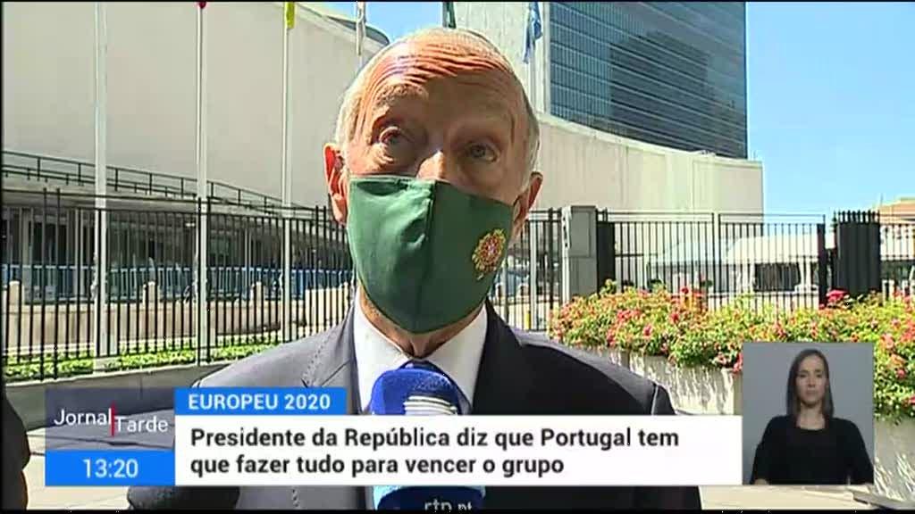 Euro2020. Marcelo defende que Portugal deve tentar passar em primeiro no grupo