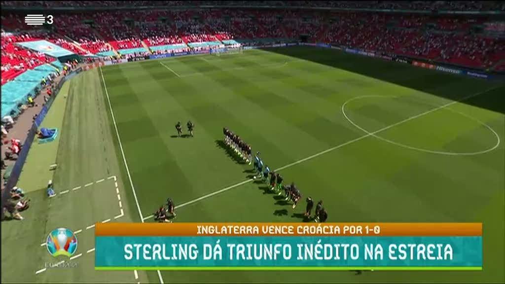 Euro2020. Inglaterra vence Croácia por 1-0