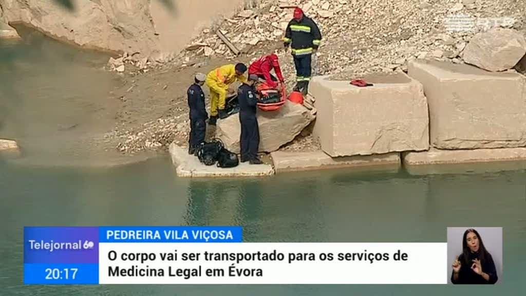 Pedreira Vila Viçosa. Resgatado corpo do condutor do camião - RTP
