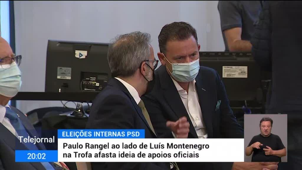 Paulo Rangel ao lado de Luís Montenegro na Trofa afasta ideia de apoios oficiais