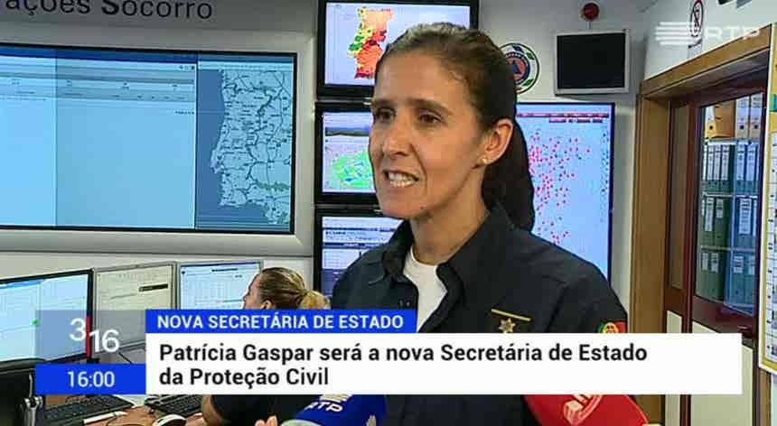 Patrícia Gaspar vai ser a nova secretária de Estado da Proteção Civil