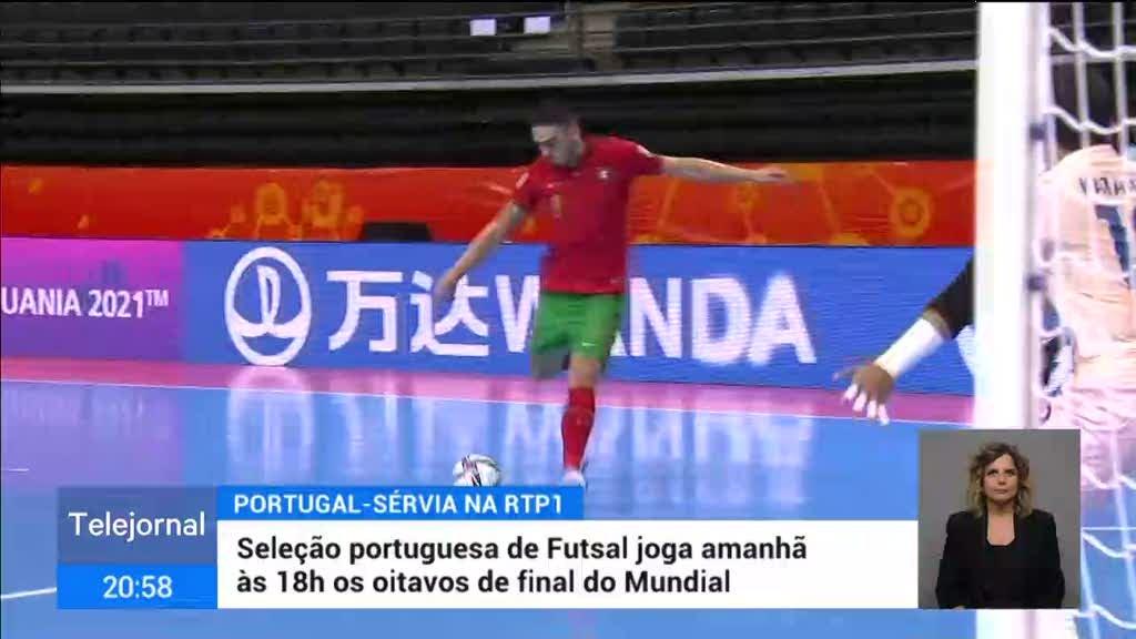 Mundial de Futsal. Portugal prepara confronto difícil com a Sérvia