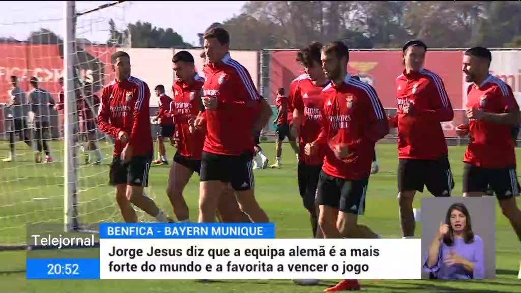 Liga dos Campeões. Benfica recebe o Bayern de Munique esta quarta-feira